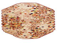 Tapete geométrico de lã LOSANGES Coleção Losanges by Nanimarquina | design Ronan & Erwan Bouroullec