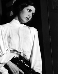 "Princess Leia aka ""The Femme Badass of the Galactic"". We personally feel the need for more female badasses in the outer realms of earth, our galaxy and beyond."
