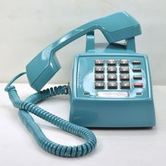 Teal Blue 2500 Desk Phone II by  American Telephone Store // this colour!