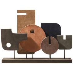 Stephane Parmentier Abstract Sculpture – Tabou 05 Decorative Totem Italian Suede Source by - Sculptures Céramiques, Sculptures For Sale, Pottery Sculpture, Wood Sculpture, Sculpture Projects, Ceramic Pottery, Ceramic Art, Metal Art, Wood Art