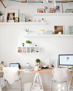 "Stunning work space from ""Le Petite Studio's"" in Minneapolis. #office #workspace #workspaces #workspaceinspo #workspacestyling"