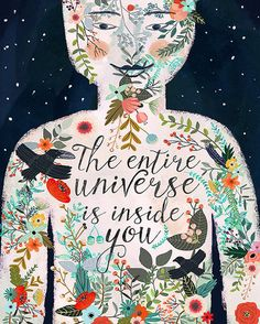 The entire universe is inside you van OhMammaMia op Etsy