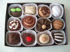 Box of Felt Chocolate Truffles by lisajhoney, via Flickr