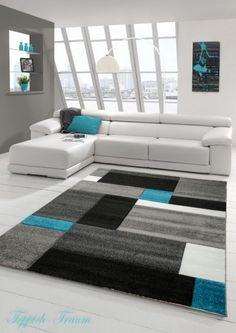 Contemporary Rug Low Pile Contour Cut Tukis Grey White Black (Dream Slide)  In Home, Furniture U0026 DIY, Rugs U0026 Carpets, Runners