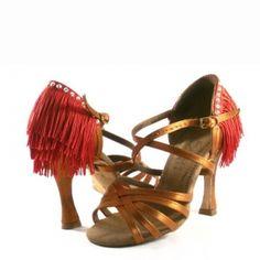 Gorgeous one of a kind fringe design shoe with swarovski embellishment. #custom