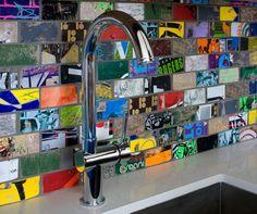 recycled skate boards for backsplash