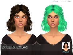 Nessa sims: Leahlillith`s Soundwave hair retextured  - Sims 4 Hairs - http://sims4hairs.com/nessa-sims-leahlilliths-soundwave-hair-retextured/