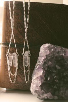Crystal boho chain necklaces