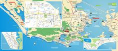 Tourist map of Rio de Janeiro attractions, sightseeing, museums, sites, sights, monuments and landmarks