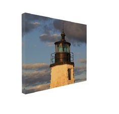 Newport Lighthouse Gallery Wrapped Canvas Photography  ready to hang gallery wrapped canvas! Your space will have a finished look moments after it