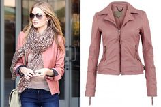 Find the Perfect Leather Jacket for Your Personal Style - Rosie Huntington-Whiteley, Muubaa Auriga jacket
