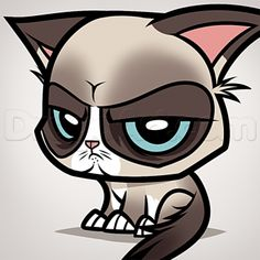 How to Draw Chibi Grumpy Cat, Step by Step, Chibis, Draw Chibi, Anime, Draw Japanese Anime, Draw Manga, FREE Online Drawing Tutorial, Added by Dawn, July 17, 2014, 10:56:10 am