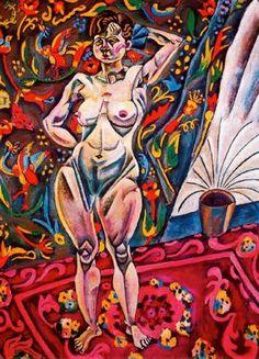"""Joan Miró Ferrà (1893-1983). """"Desnudo de pie, 1918"""". Óleo sobre lienzo. Fundación de amigos del Museo de Arte de San Luis. San Luis. USA."""