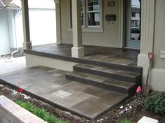 I could paint the concrete patio like this for a year to make it look nice until we replace it....