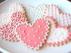 Corazón de azúcar Cookies corazón Shabby por SugarMeDesserterie