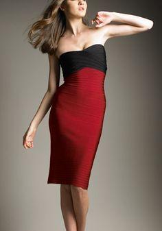 Hervé Léger colour-block dress
