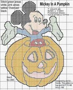 Mickey in a Pumpkin