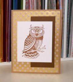 Sandie's Card Garden: Artful Owl...Guys' Card?