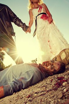 Zombie trash the dress. ha ha my boyfriend would love this one----this makes me think of Kristin and a certain someone who shall never be named again...can't help it..