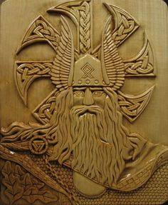 Odin, still with two eyes. Must be a carving from his time BEFORE the well :) For more Viking facts please follow and check out www.vikingfacts.com don't forget to support and follow the original Pinner/creator. Thx Norse Pagan, Norse Mythology, Old Norse, Viking Art, Viking Symbols, Viking Life, Viking Warrior, Runes, Les Vikings
