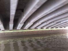 Uma das muitas pontes de Recife vista sob um ângulo um pouco diferente