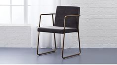 Shop rouka brass frame dining chair. Designed by Jannis Ellenberger, the Rouka (which means food in Finnish) puts an elegant twist on the dining room chair.