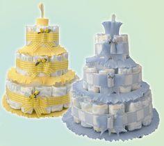Come realizzare una torta di pannolini
