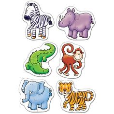 A selection of puzzles featuring friendly jungle animals. Shop now on Orchard Toys' official site. Fun Worksheets For Kids, Puzzles For Toddlers, Indoor Games For Kids, Educational Games For Kids, Jungle Animals, Baby Animals, Orchard Toys, Animal Puzzle, Montessori Baby