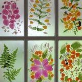 Flower Petal Stained Glass Door
