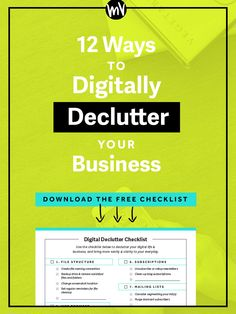 That's why I've compiled a list of 12 ways to declutter, streamline, and clear out the various digital pipes of my business below. If you're an online business owner (or, heck, really anyone that uses a computer!), I hope this list will prove helpful for you in creating a clean slate to start off the year right come January.