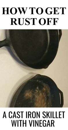 With a few simple steps, you can bring your cast iron skillet back to life. In this article we will go over the three basic steps. Iron Skillet Cleaning, Cleaning Cast Iron Pans, Rusted Cast Iron Skillet, Cast Iron Skillet Cooking, How To Clean Rust, How To Remove Rust, Household Cleaning Tips, Cleaning Recipes, Cleaning Products