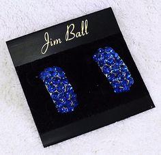 Swarovski Crystal Pave Half Hoop Earrings