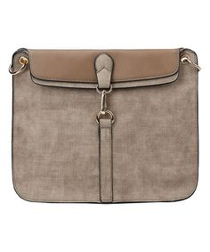 Loving this Stone Fold-Over Crossbody Bag on #zulily! #zulilyfinds