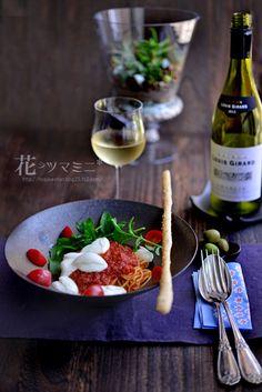 Tomatosauce mozzarella Bufala - トマトソースとブッファラのパスタ
