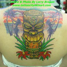 Larry Brogan - Tiki fire bowl