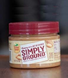 Peter Pan Simply Ground peanut butter is a wonderful cross between creamy and crunchy.