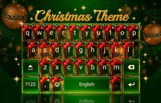 Cute Christmas & Winter Ornaments Android Theme! #cute #christmas #redrawkeyboard #winter #ribbons #green Xmas Theme, Christmas Themes, Send Text Message, Text Messages, Android Theme, Chicken Cordon, Cordon Bleu, Ribbons, Keyboard