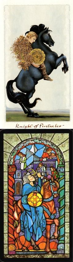 Knight of Pentacles: extreme efficiency and not seeing the big picture (reverse). Pagan Otherworlds Tarot deck and Il Tarocco Tarot deck: free tarot reading online accurate lotus, tarot live yes or no and free psychic tarot card reading. Best 2017 spell book diy and tarot decks. #divination #devil #android #hangedman #temperance