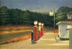 Gas: 1940 by Edward Hopper New York Movie: 1939 by Edward Hopper (Part of Exhibit: American Modern: Hopper to O'Keeffe - Museum of Modern Art, NYC) - Modernism/American Realism