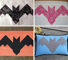 Introducing the Creepy Critters Halloween Quilt Pattern - ellis & higgs Halloween Quilts, Halloween Quilt Patterns, Cat Quilt Patterns, Halloween Sewing, Patchwork Patterns, Easy Halloween, Quilting Projects, Quilting Designs, Sewing Projects
