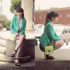 Mint jacket (by Paulina R.) http://lookbook.nu/look/3612869-Mint-jacket
