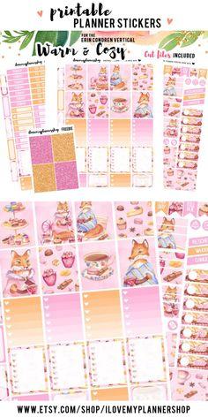 Printable planner stickers. Erin Condren planner sticker kit. Weekly printable planner kit. PIN10 - 10%off