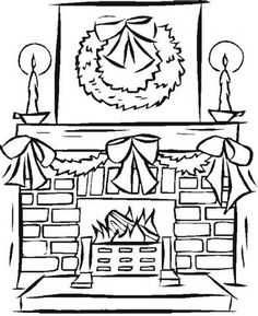 Printable Fireplace Coloring Pages