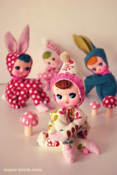 bE Bunny... Dolls...cute kawaii little dolls in bunny suits happy easter