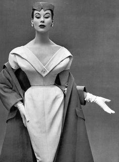Myrtle Crawford in Christian Dior, photo by Philippe Pottier, 1953*