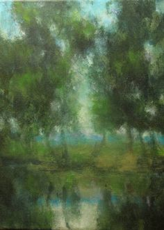 A Tranquil Water, by Ellen LoCicero, Acrylic on Canvas