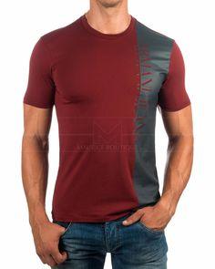 Camisetas Armani - Burdeos & Gris   Envio Gratis
