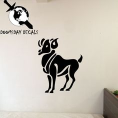 Aries Zodiac Symbol #Silhouette 1st Sign Ram Vinyl Wall #Decal #(Comes in multipl,  View more on the LINK: http://www.zeppy.io/product/gb/3/260035363/