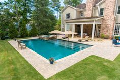 Pool Porch, Backyard Pool Landscaping, Backyard Pool Designs, Swimming Pools Backyard, Swimming Pool Designs, Backyard With Pool, Pools Inground, Outdoor Pool, Landscaping Ideas
