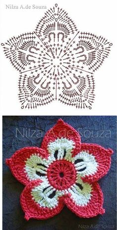 Best 12 flower pattern FREE…♥ Deniz ♥ – Page 386183736795018307 – SkillOfKing.Com - moonlight Crochet Leaves, Crochet Motifs, Freeform Crochet, Irish Crochet, Crochet Stitches, Knit Crochet, Crochet Squares, Crochet Granny, Crochet Flower Tutorial